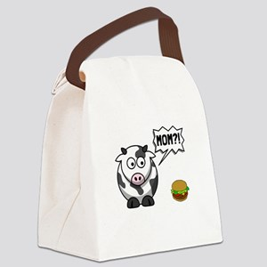 Cow Mom Canvas Lunch Bag