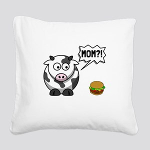 Cow Mom Square Canvas Pillow