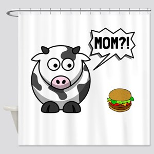 Cow Mom Shower Curtain