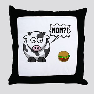 Cow Mom Throw Pillow