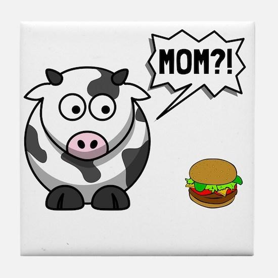 Cow Mom Tile Coaster