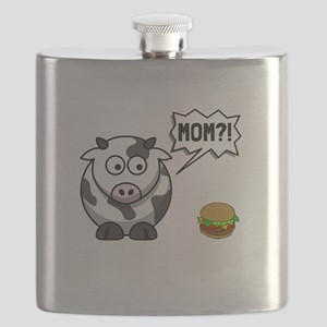 Cow Mom Flask
