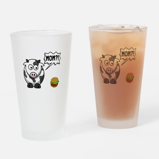 Cow Mom Drinking Glass
