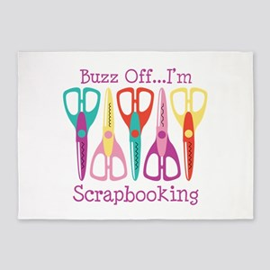 Buzz Off... Im Scrapbooking 5'x7'Area Rug