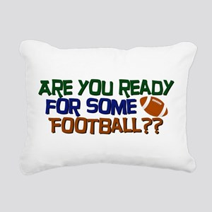 Football Season Rectangular Canvas Pillow