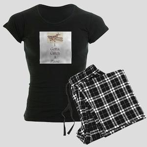 Plane Women's Dark Pajamas
