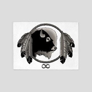 Metis Art Spirit Animal Tribal Gift 5'x7'Area Rug