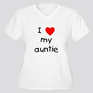 I love my auntie Women's Plus Size V-Neck T-Shirt