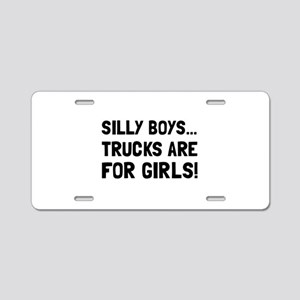 Girls Trucks Aluminum License Plate