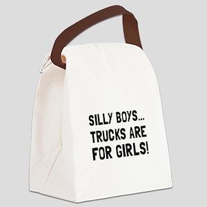 Girls Trucks Canvas Lunch Bag