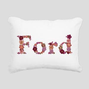 Ford Pink Flowers Rectangular Canvas Pillow