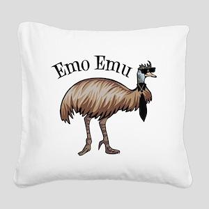 Emo Emu Square Canvas Pillow