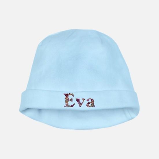 Eva Pink Flowers baby hat