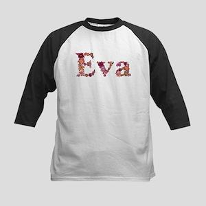 Eva Pink Flowers Baseball Jersey