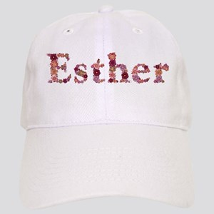 Esther Pink Flowers Baseball Cap