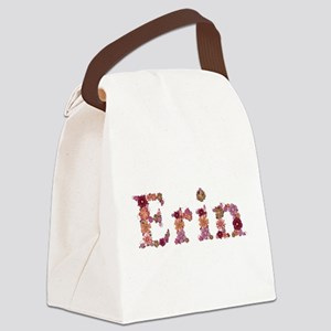 Erin Pink Flowers Canvas Lunch Bag