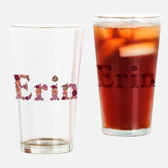 Erin Pink Flowers Drinking Glass