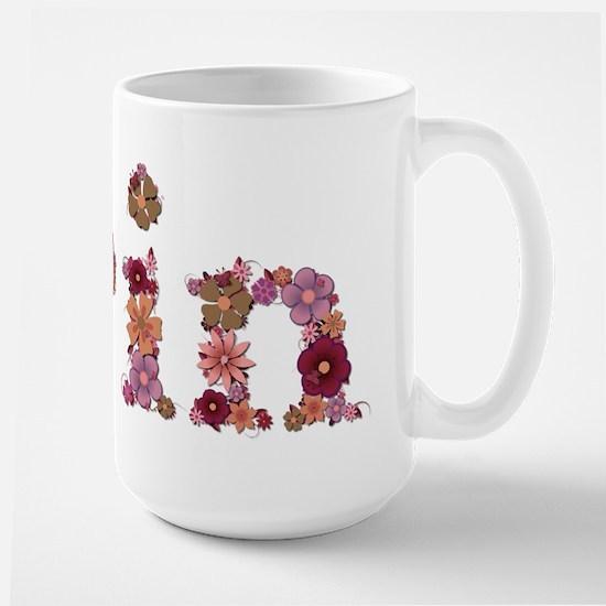 Erin Pink Flowers Mugs