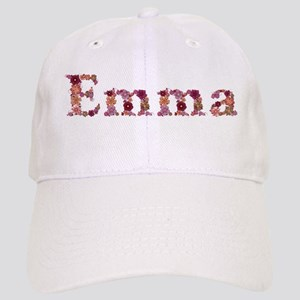 Emma Pink Flowers Baseball Cap