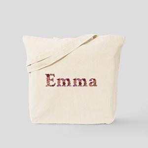 Emma Pink Flowers Tote Bag