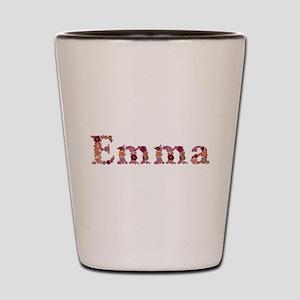 Emma Pink Flowers Shot Glass