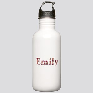 Emily Pink Flowers Water Bottle