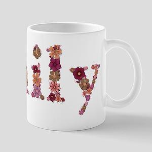 Emily Pink Flowers Mugs