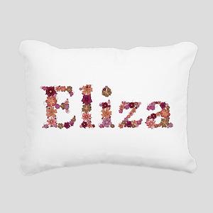 Eliza Pink Flowers Rectangular Canvas Pillow