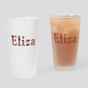 Eliza Pink Flowers Drinking Glass