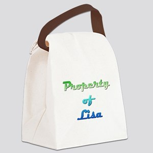 Property Of Lisa Female Canvas Lunch Bag