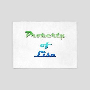 Property Of Lisa Female 5'x7'Area Rug