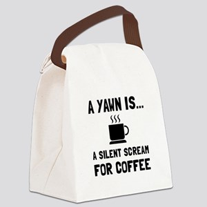 Yawn Coffee Canvas Lunch Bag