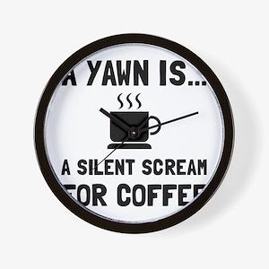 Yawn Coffee Wall Clock