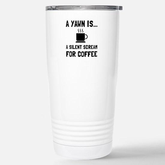 Yawn Coffee Travel Mug