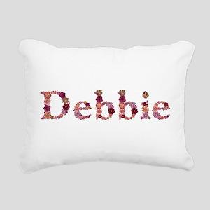 Debbie Pink Flowers Rectangular Canvas Pillow