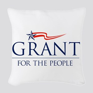 Grant for the people Woven Throw Pillow