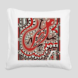 Art Gecko Square Canvas Pillow