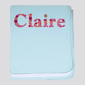 Claire Pink Flowers baby blanket