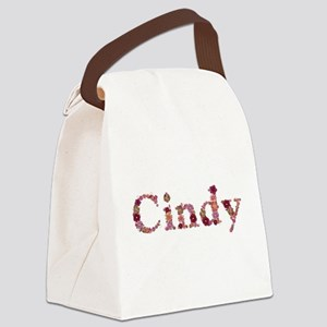 Cindy Pink Flowers Canvas Lunch Bag