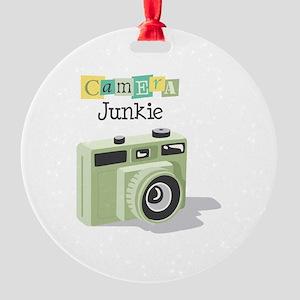 Camera Junkie Ornament