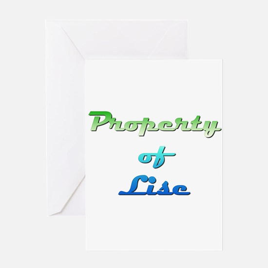 Property Of Lise Female Greeting Cards