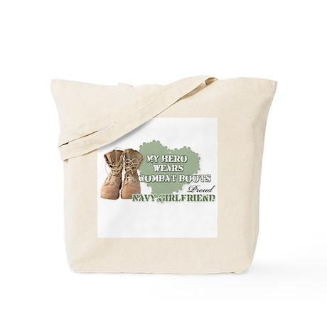 My Hero Wears Combat Boots-Na Tote Bag