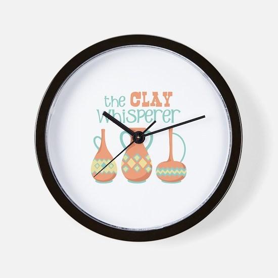 The Clay Whisperer Wall Clock