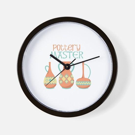 Pottery Master Wall Clock