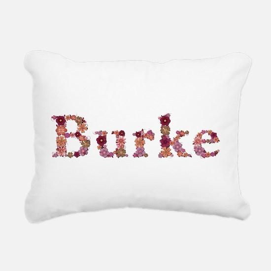 Burke Pink Flowers Rectangular Canvas Pillow