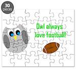 Owl always love football! Puzzle
