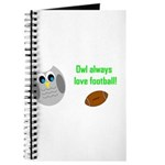 Owl always love football! Journal