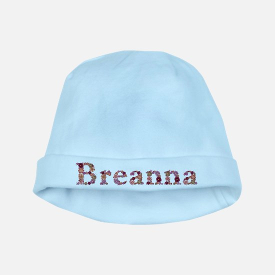 Breanna Pink Flowers baby hat