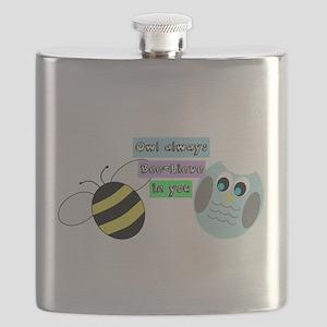 Owl always bee-lieve in you Flask