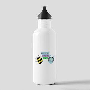 Owl always bee-lieve in you Water Bottle